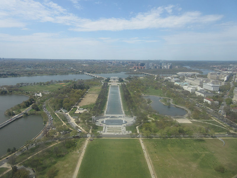 View from the top of the Washington Monument
