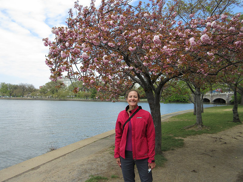 Christi at Washington DC Tidal Basin