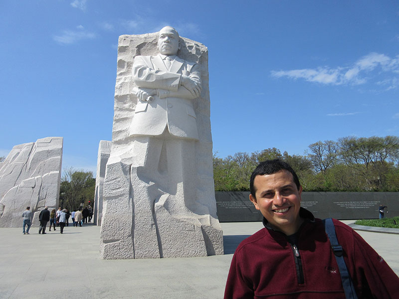 Hector at the MLK Memorial in Washington DC