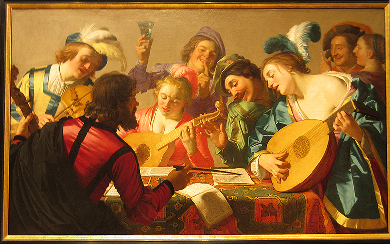 Gerrit van Honthorst's 1623 painting, The Concert