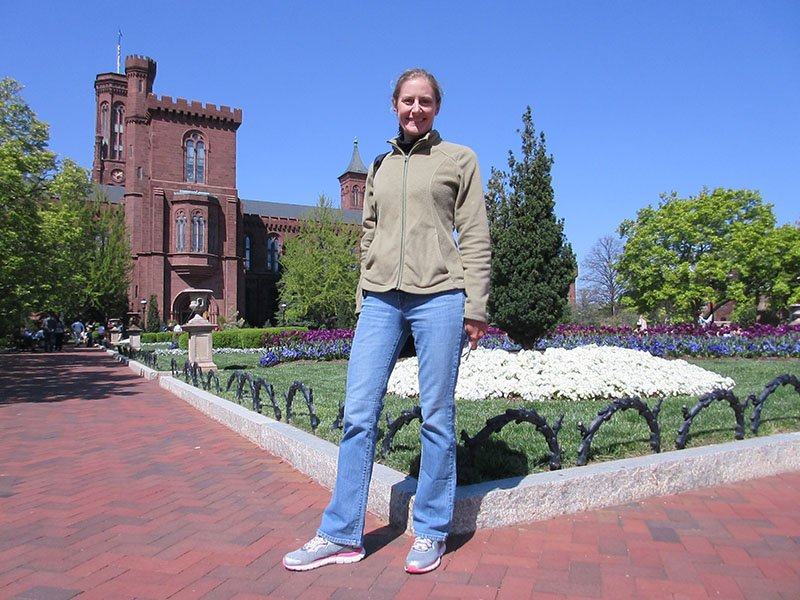 Christi at Smithsonian Castle