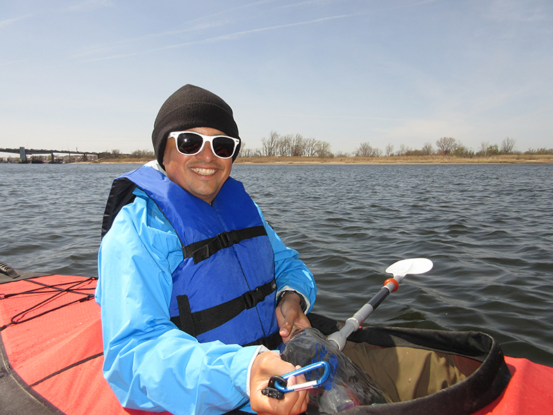 Hector kayaking at Gateway National Recreation Area