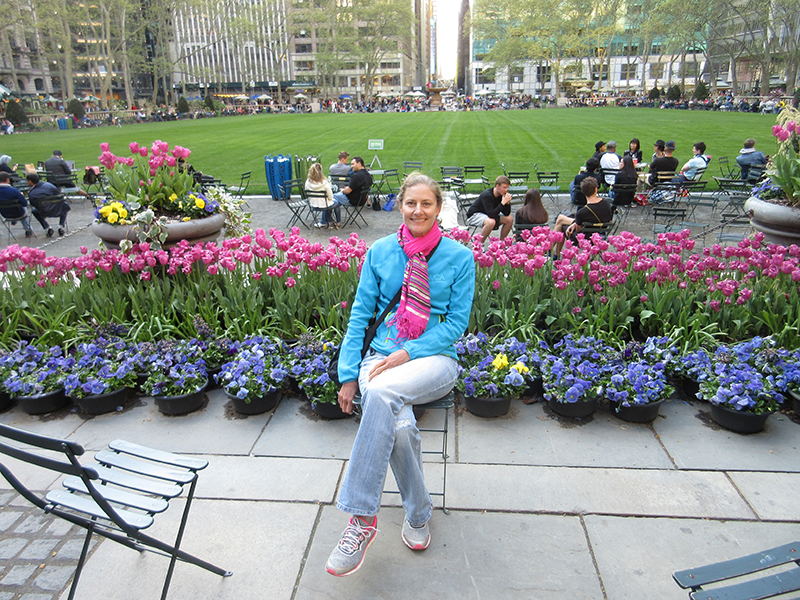 Christi in New York City's Bryant Park