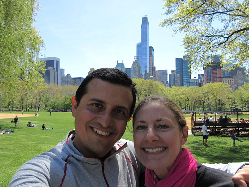 Hector & Christi in New York's Central Park