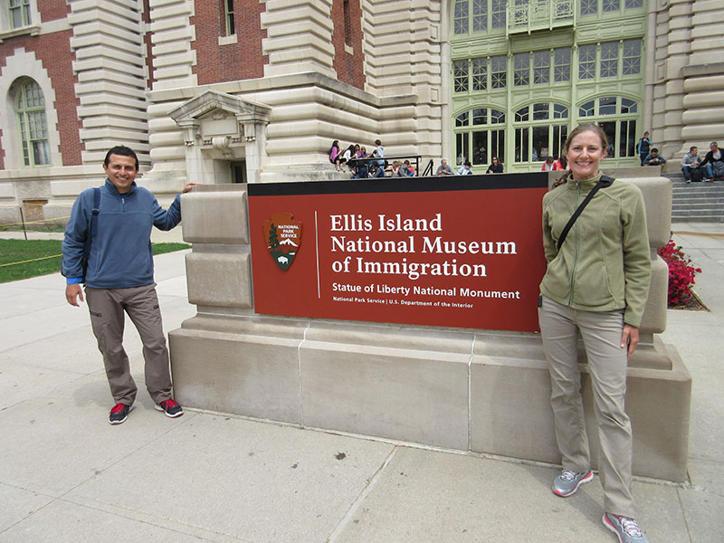 Hector & Christi at Ellis Island