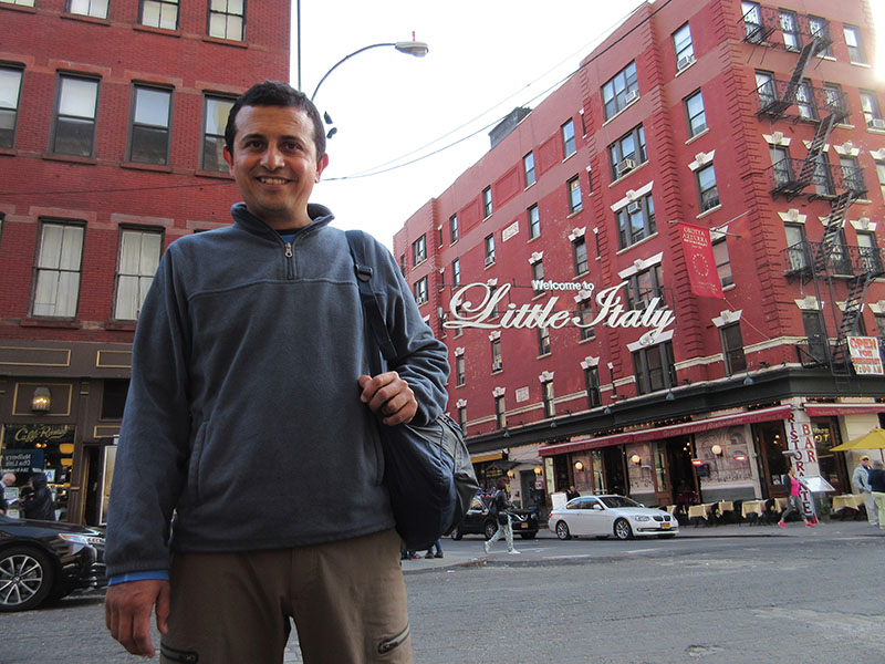 Hector in New York's Little Italy