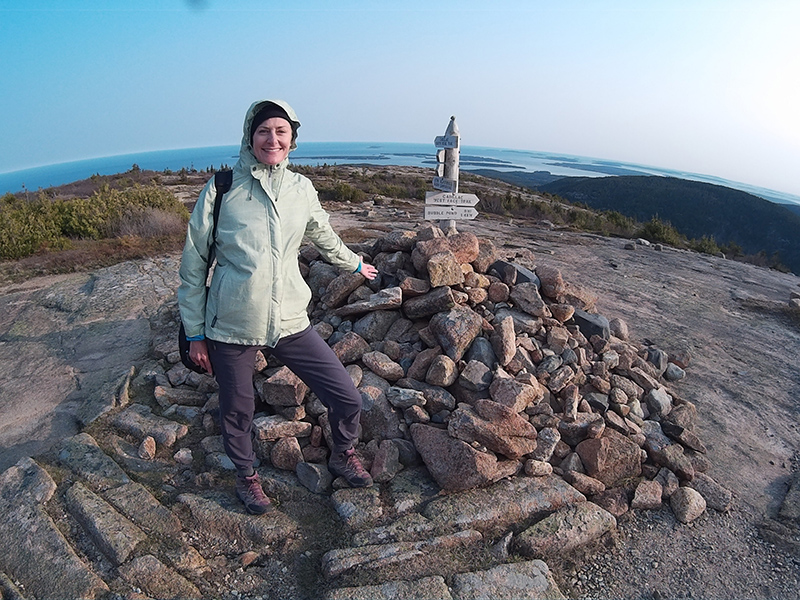 Christi on Cadillac Mountain in Acadia National Park