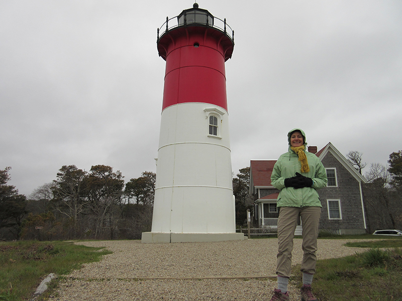 Christi at Nauset Lighthouse