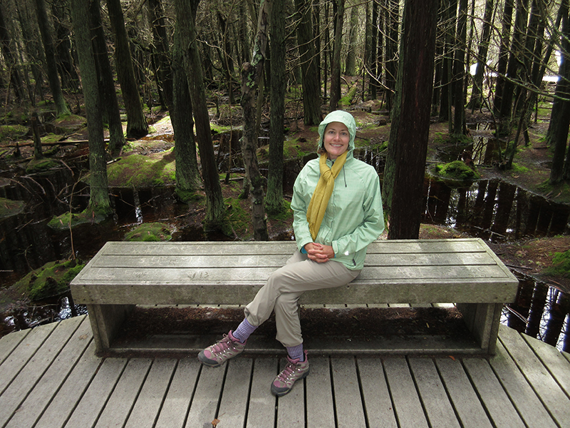 Christi on Cape Cod's Atlantic White Cedar Swamp Trail