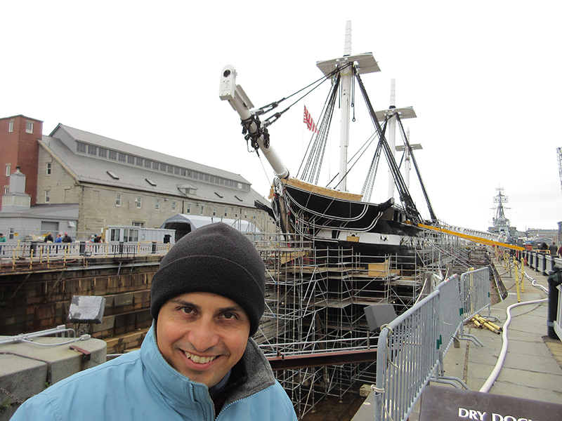 Hector at the USS Constitution in Boston