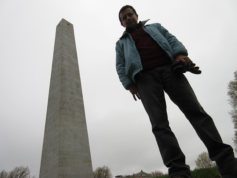 Hector at Bunker Hill Monument in Boston
