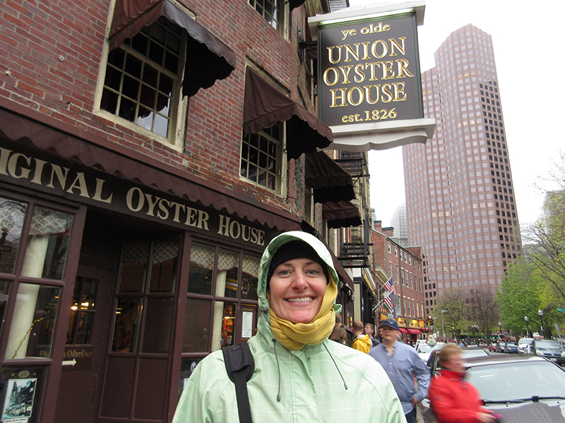 Christi at Union Oyster House in Boston