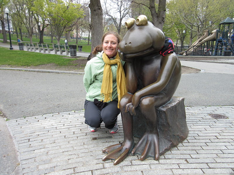 Christi and friend in Boston Common