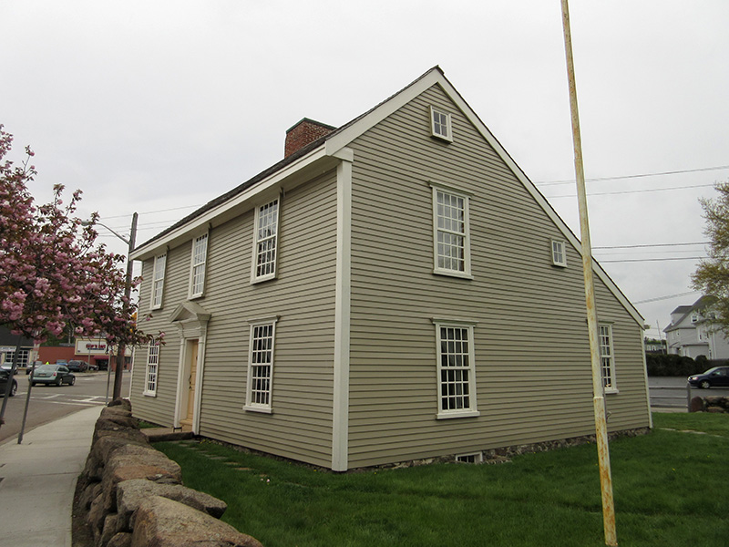 Adams birthplace in Quincy, Mass.