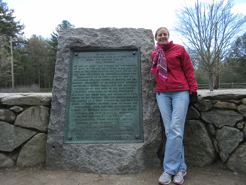 Christi at Minute Man National Historical Park