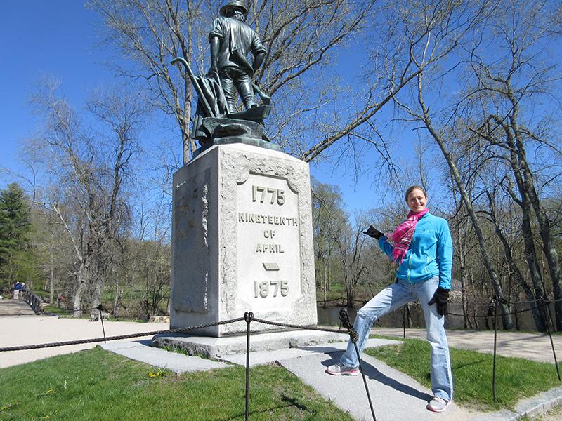 Christi at Minute Man National Historical Park