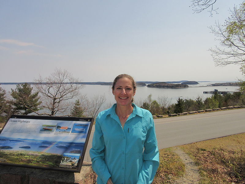Christi in Acadia National Park