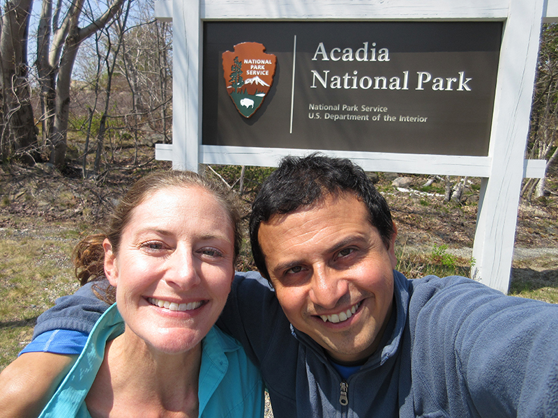 Christi & Hector in Acadia National Park