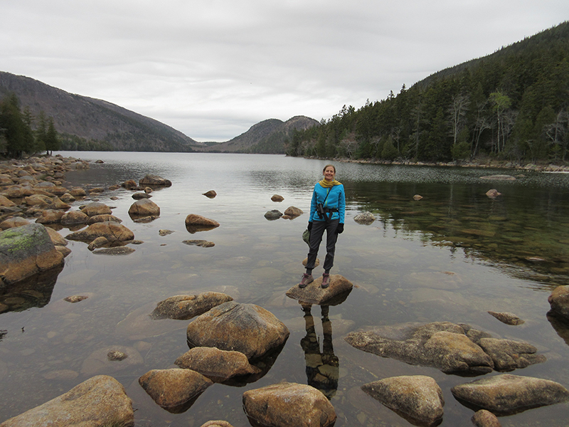 Christi on Jordan Pond in Acadia National Park