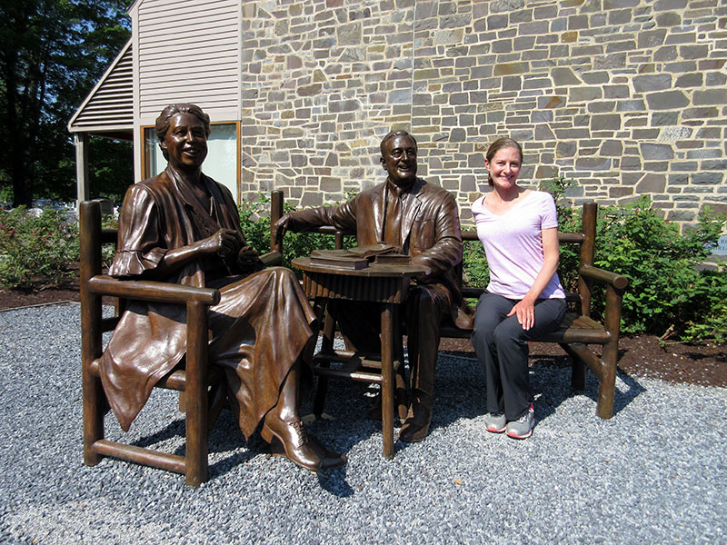 Christi with Eleanor & Franklin Roosevelt