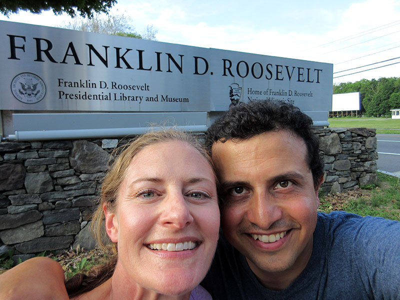 Christi & Hector at the Home of FDR National Historic Site