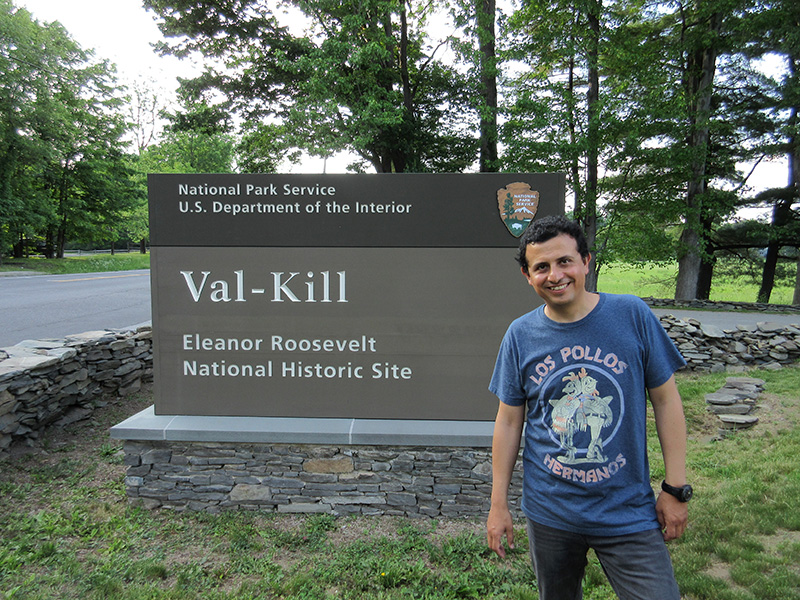 Hector at Eleanor Roosevelt's Val-Kill