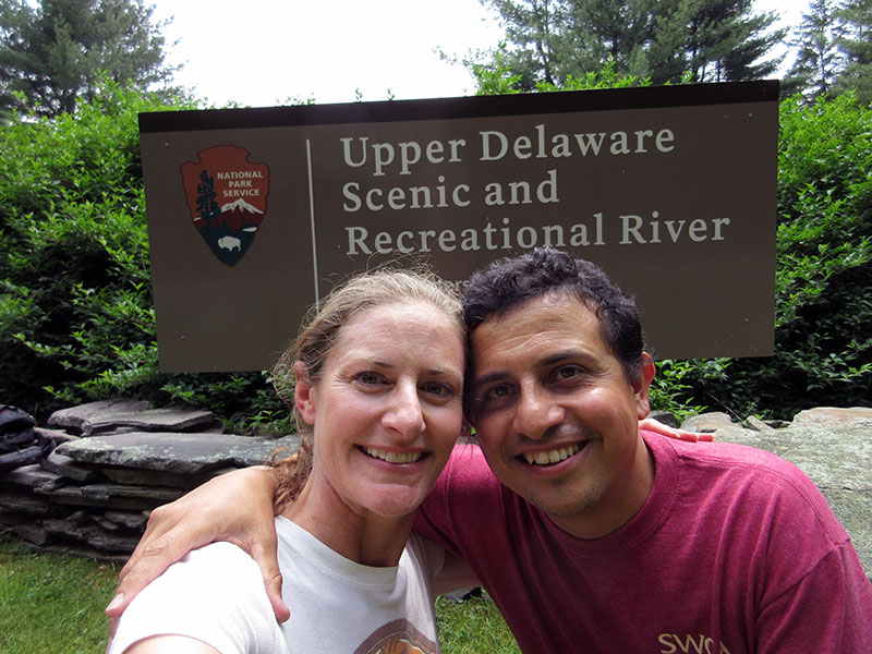 Christi & Hector at Upper Delaware Scenic River