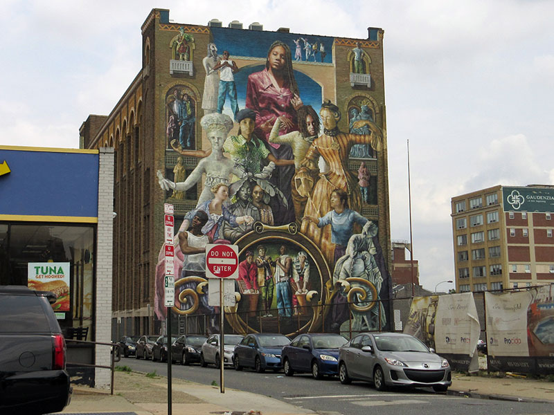 Mural on downtown Philadelphia building