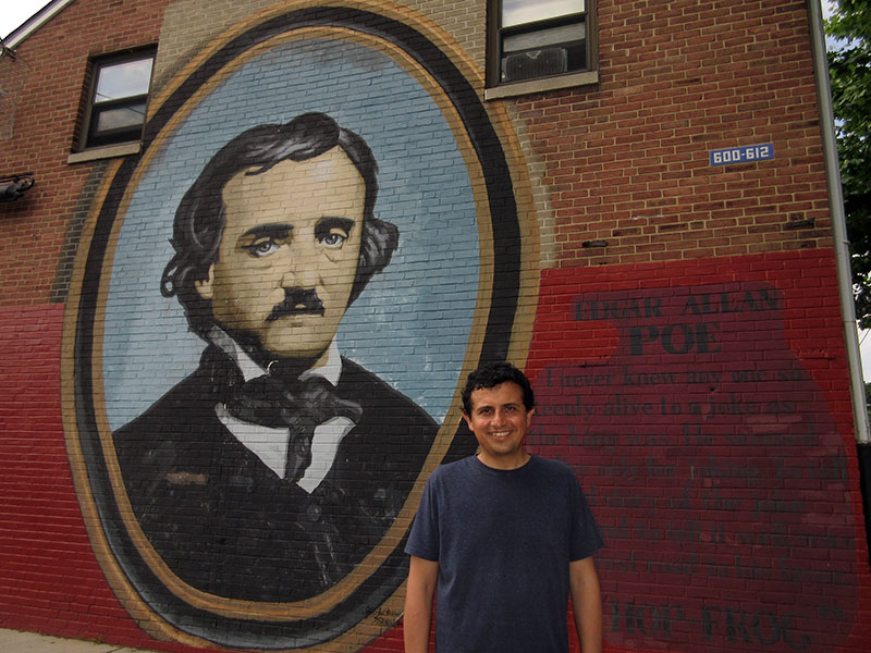 Hector at Edgar Allen Poe National Historic Site in Philadelphia