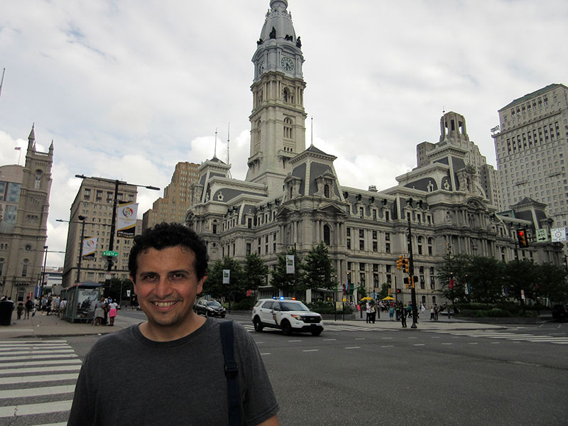 Hector at Philadelphia City Hall