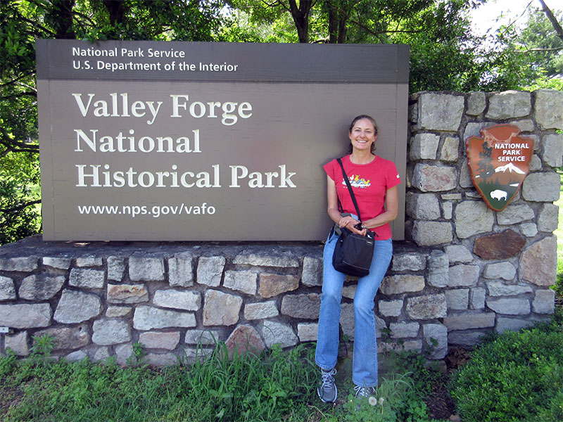 Christi at Valley Forge
