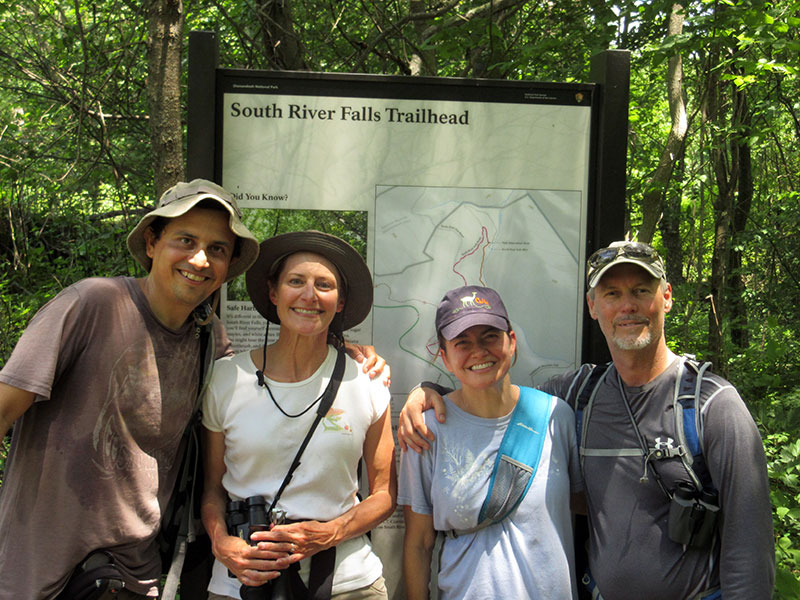 Hector, Christi, Marci and John in Shenandoah National Park