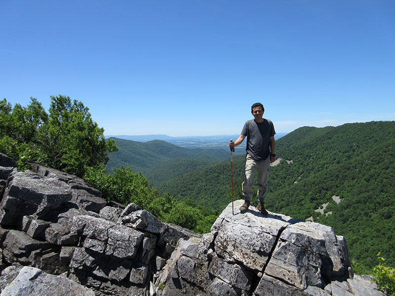 Hector in Shenandoah National Park