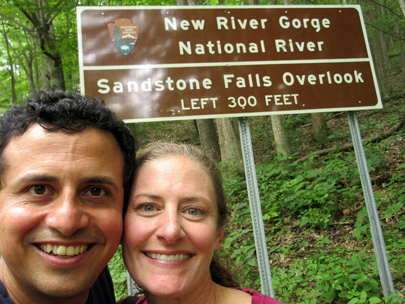 Hector and Christi at New River Gorge National River