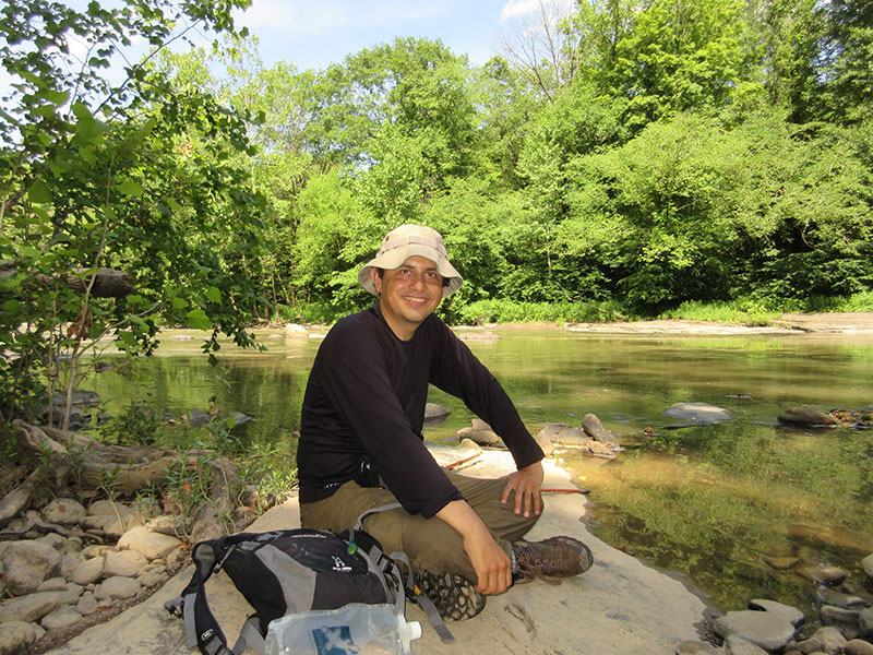 Hector at Bluestone National Scenic River