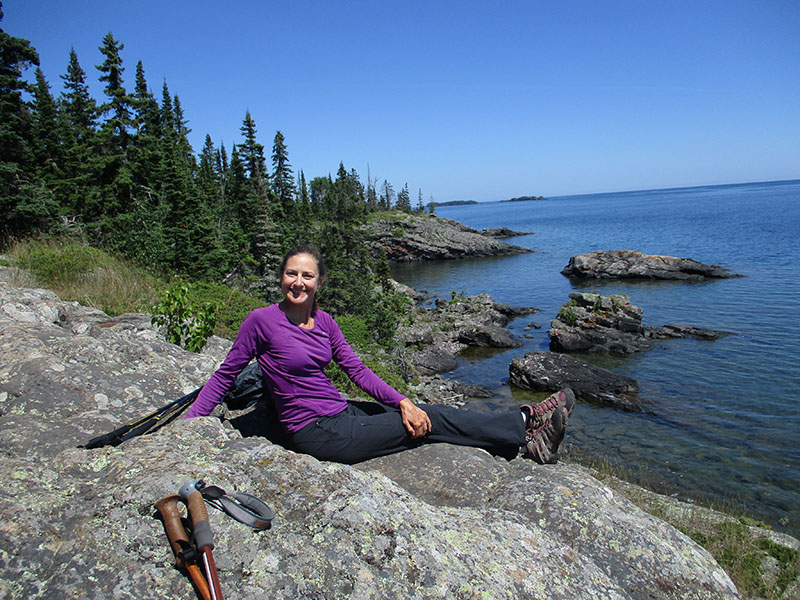 Christi on Isle Royale