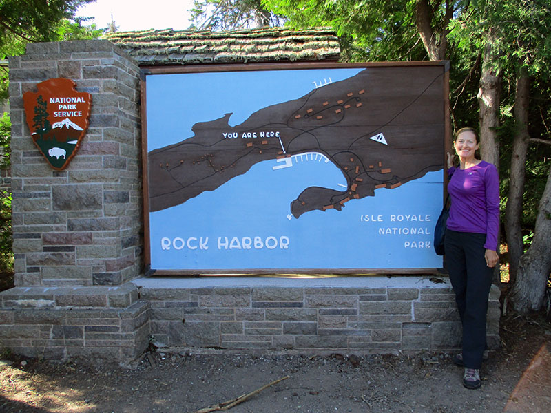 Christi at Isle Royale National Park's Rock Harbor