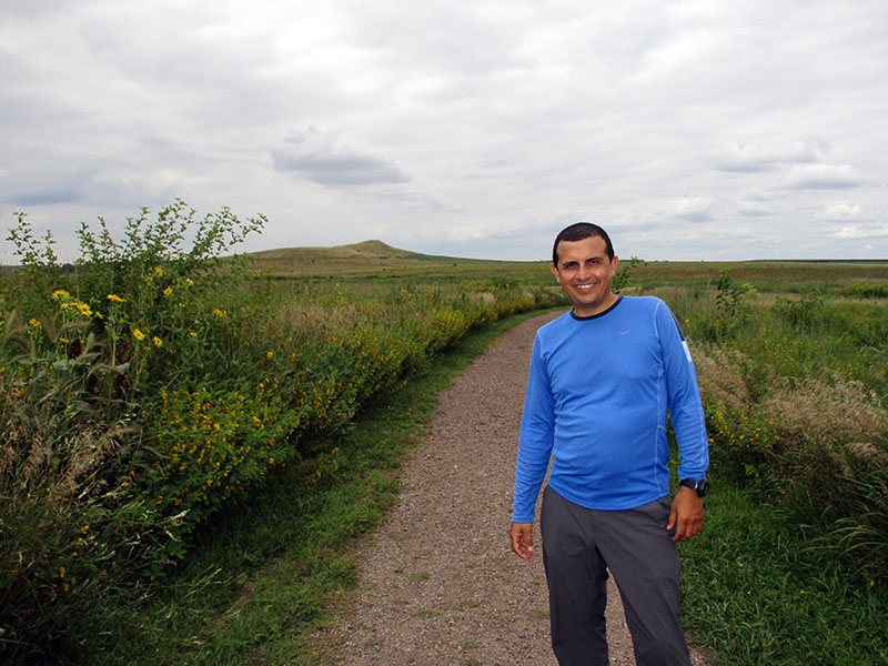 Hector at Spirit Mound in South Dakota