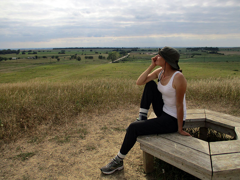 Christi at Spirit Mound in South Dakota