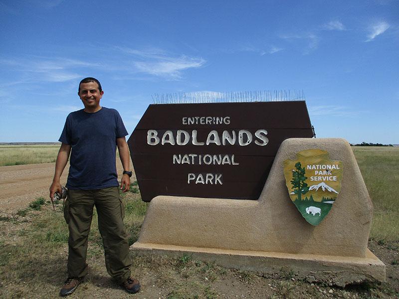 Hector in Badlands National Park