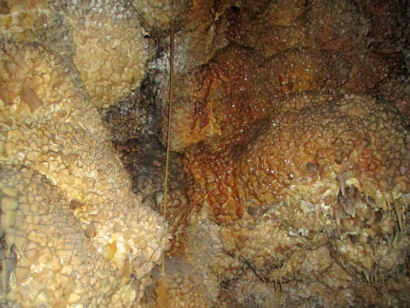 Dogtooth spar and soda straw inside Jewel Cave