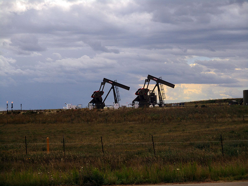 Oil drilling activity outside Theodore Roosevelt National Park