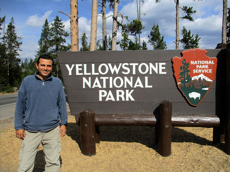 Hector at Yellowstone National Park