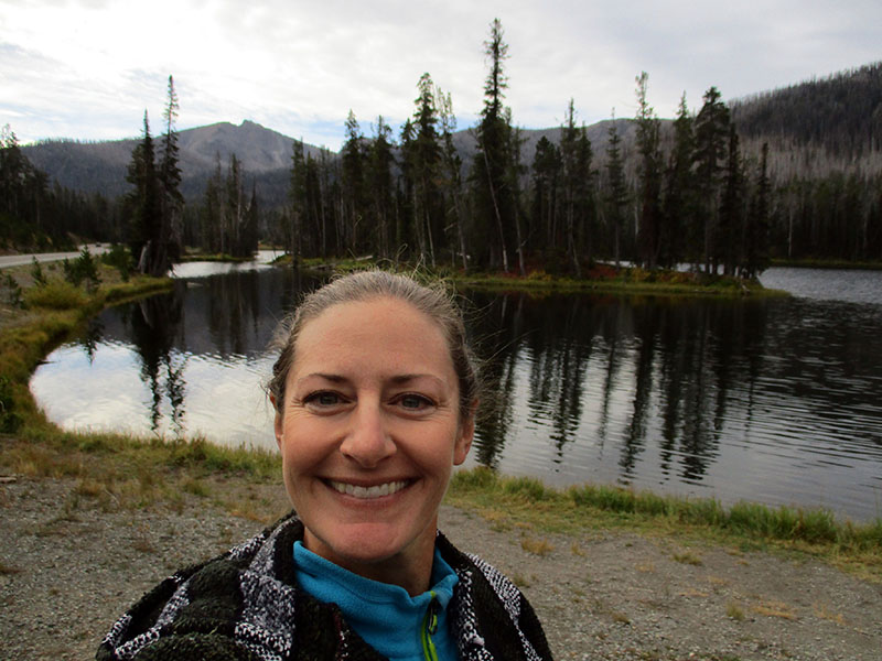 Christi at Sylvan Lake in Yellowstone National Park