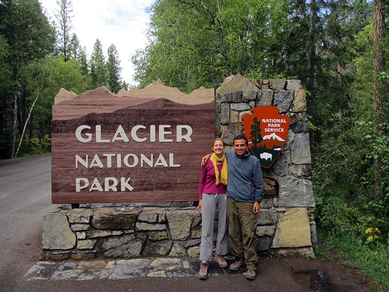 Christi & Hector in Glacier National Park