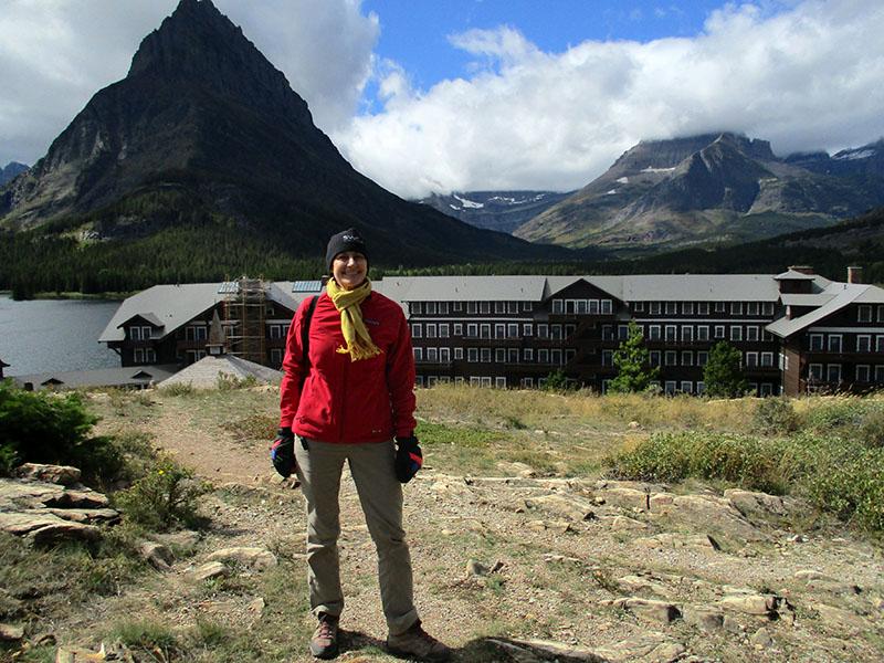 Christi at Many Glacier Hotel