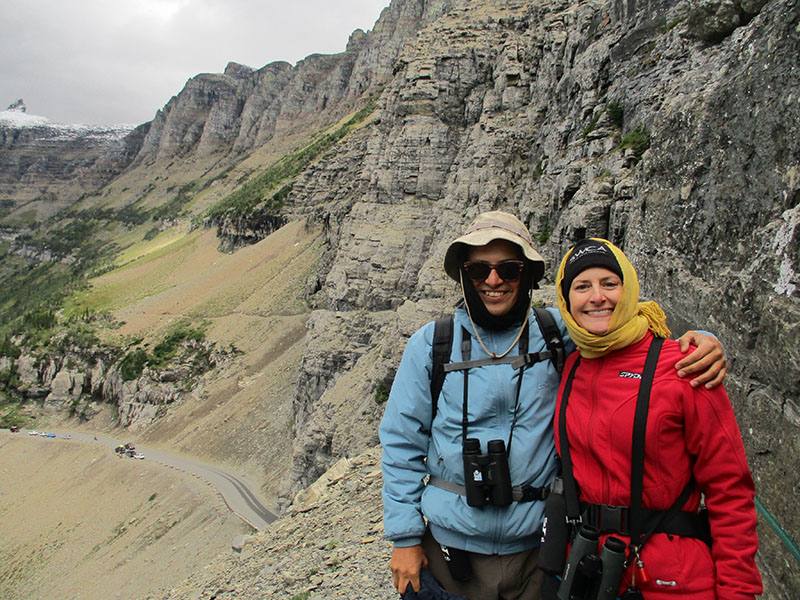 Hector & Christi on Glacier National Park's Highline Trail