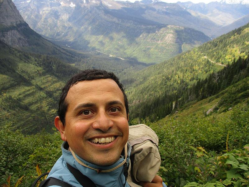 Hector on Glacier National Park's Highline Trail