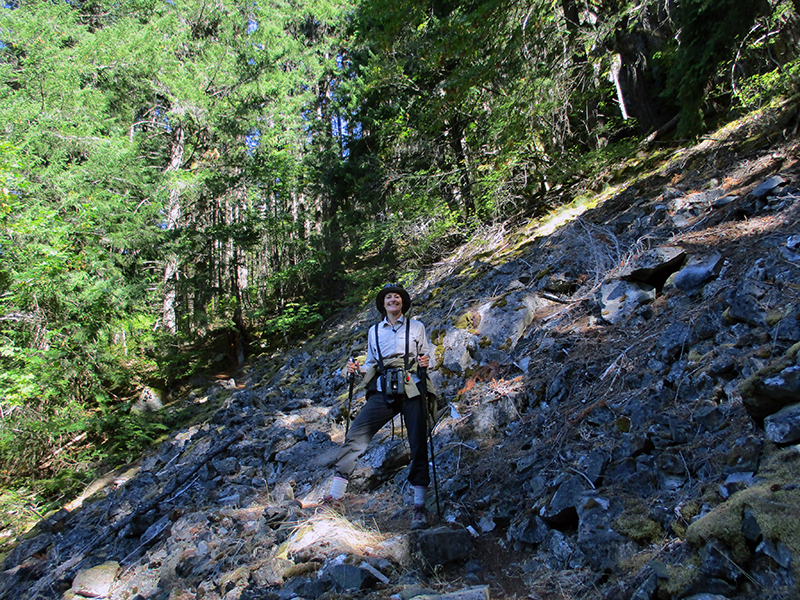 Christi on Sourdough Mountain Trail in North Cascades National Park