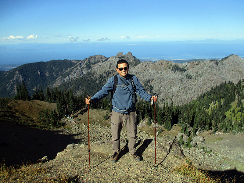 Hector on Olympic National Park's Hurricane Hill